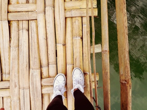 eatplaylog bohol day 1 sevilla twin hanging bamboo bridges tagbilaran loboc